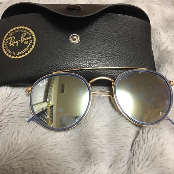 dcb0a90520f44f Ray-Ban Round Double Bridge Sunglasses. M 5a1b75d29c6fcfafe909d0d5