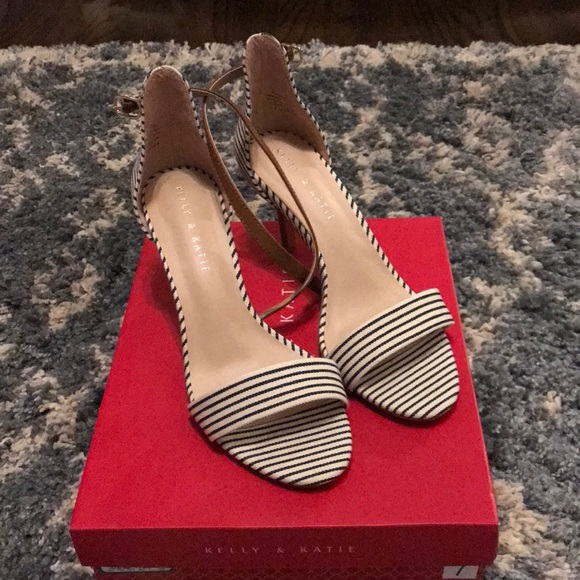 20502c1c0ade NWT NIB Kelly   Katie Nadia Stiletto heels sandals