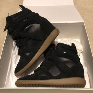 Isabel Marant high top suede leather sneakers