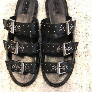 Top shop Studded slide on sandals