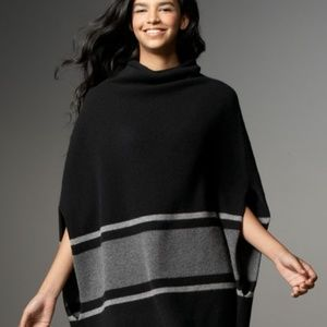 James Perse 100% cashmere poncho in grey