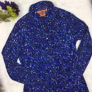 Tory Burch | 100% silk long sleeve blouse