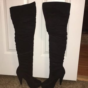 Charlotte Russe Over the Knee black boots