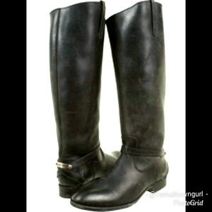 Frye Lindsey Plate Riding boots Black Size 10