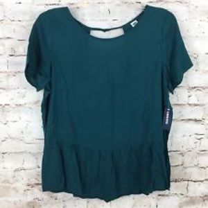 Green peplum- perfect for the holidays!