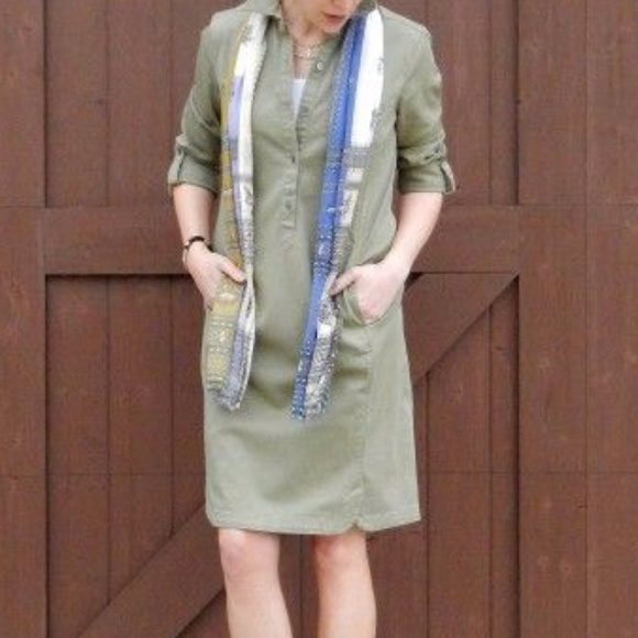 20e04c0a202 J. Jill Dresses   Skirts - J.Jill live in chino green dress