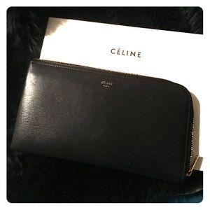 Celine zip envelope wallet