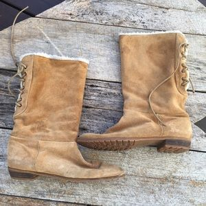 Shoes - Brown Suede Boots Size 7 1/2.