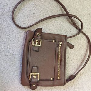 Etienne Aigner leather crossbody purse