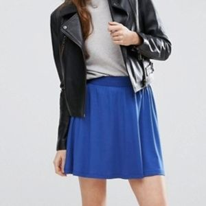 ASOS Mini Skater Skirt in Blue