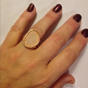 Final!Abstract Champagne Drusy JE Ring