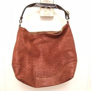 Cute and versatile leather J.Crew shoulder tote
