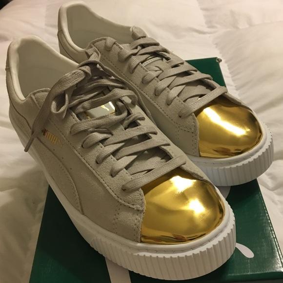 Suede Platform Gold-Star White Pumas a3c8c9a9f