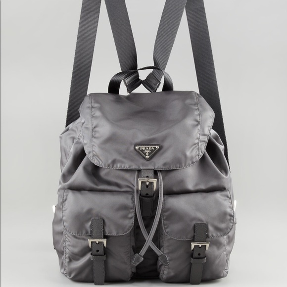 881af79d9235 Authentic Prada Women's Gray Vela Nylon Backpack. M_5a1b84fb68027864e80a2a13