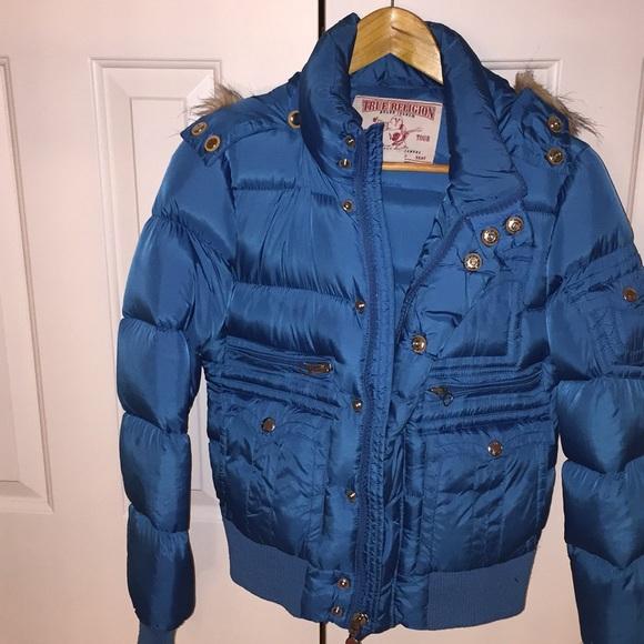 48ae4f7c864d2 True Religion Jackets & Coats | Blue Puffer Coat | Poshmark