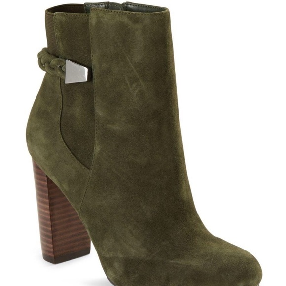 9481d955a Saks Fifth Avenue Shoes | Nwtsaks Fifth Ave Suede Ankle Green Boots ...
