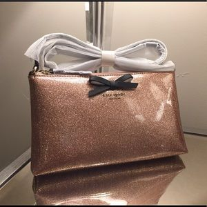 Kate Spade Rose Gold Glitter Amy Crossbody