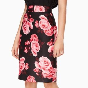 Kate Spade pencil skirt-size 12-NWT-rose print