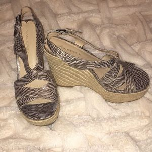 Gently Worn Via Spiga Wedges. Size 7.