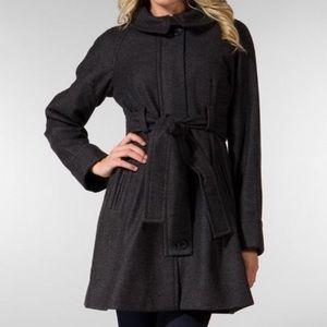 Theory wool coat charcoal gray size M