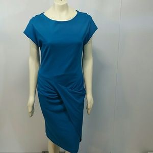 Worth size 12 electric blue faux front wrap dress