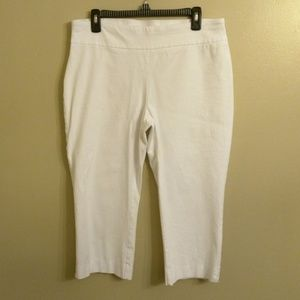 Dana Buchman comfy pull on white dress pants