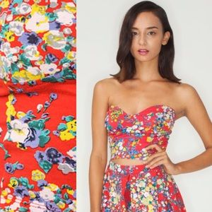 Motel Rocks Ditsy Floral Hillary Bustier Top