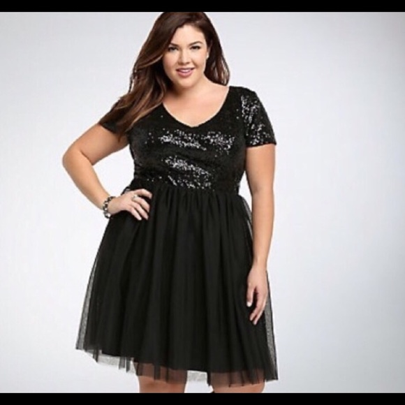 fb3981b2 torrid Dresses | Black Sequin Holiday Party Dress Size 12 | Poshmark