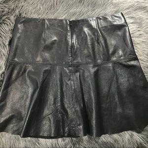 4f2ea10501 Vince Skirts | Perforated Leather Skirt | Poshmark