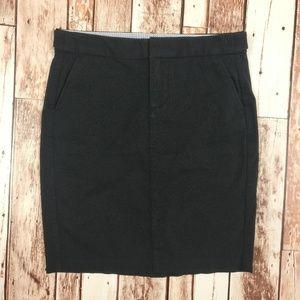 GAP Black Cotton Versatile Pencil Skirt