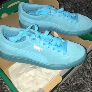 Puma Shoes | Puma Suede Baby Blue