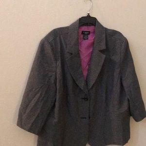 T. Milano plus size 3/4 sleeved blazer 22w Euc