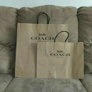 Brand new Coach paper bag