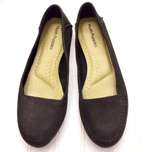 Hush Puppies Thor's Create black leather loafers