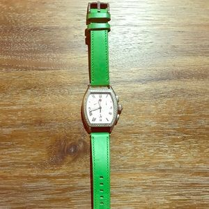 Fossil lime green leather band size 18 mm