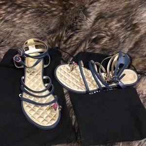 Chanel Jewel Toe Gladiator Sandals