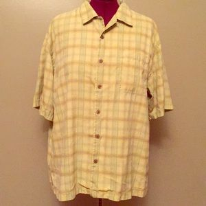 Tommy Bahama button down short sleeve top