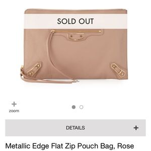Balenciaga Metallic Edge Pouch/Clutch
