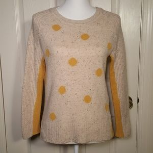 Anthropologie YOON Tweed Dots Pullover Sweater
