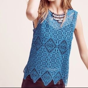 Anthropologie Deletta Lacework Shell Tank.