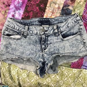 Acid wash Jean Shorts