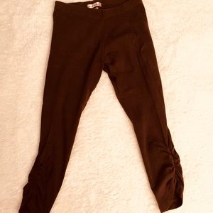 Rouched girls' leggings