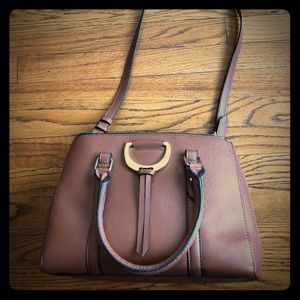 London Fog Camel/Brown 2-way Handbag