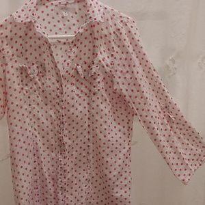 Eden & Olivia cotton polka dot blouse