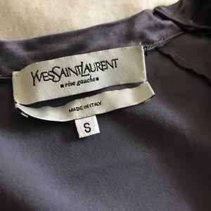 YSL Italian silk sleeveless top