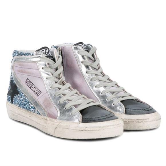 8924445f40b6a Golden Goose Shoes - Golden Goose Slide lilac   blue glitter multi