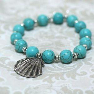Jewelry - Torquoise Beads Bracelet Sea Shell
