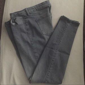 a.n.a Gray Skinny Jeans