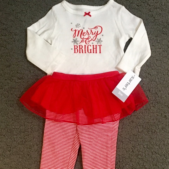 carter s matching sets carters baby girl merry bright christmas