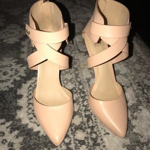 Joe's Jeans Pete nude blush strappy heels